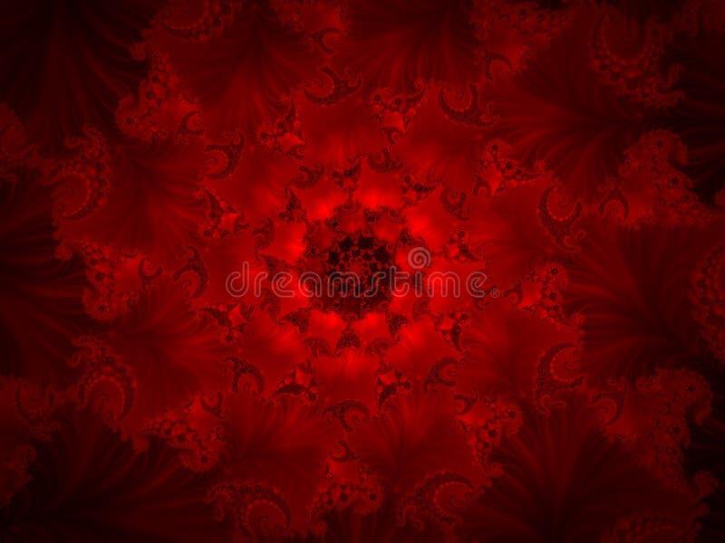 czerwony fractal tła royalty ilustracja