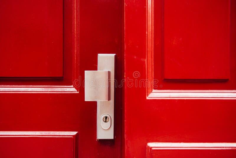 Czerwony froont drzwi obraz stock