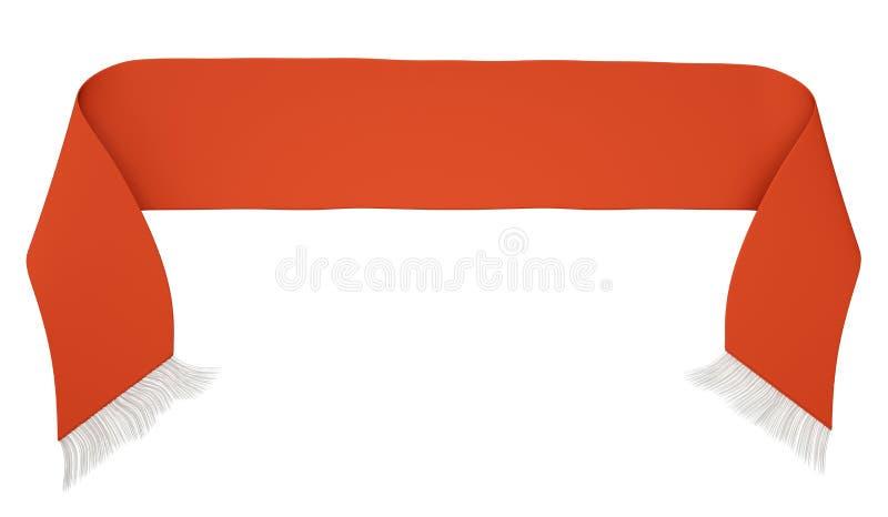 Czerwony futbolowy szalik ilustracja wektor