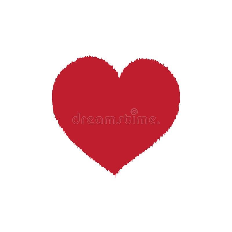 Czerwony futerkowy serce ilustracji
