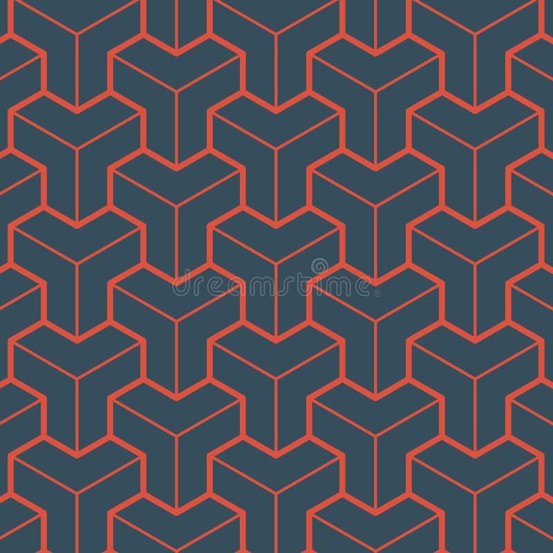 Czerwony geometria wzór royalty ilustracja