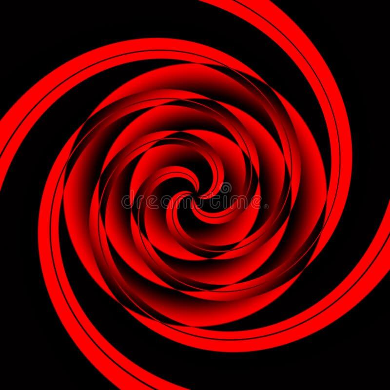 czerwony geometrycznego zawroty głowy ilustracja wektor