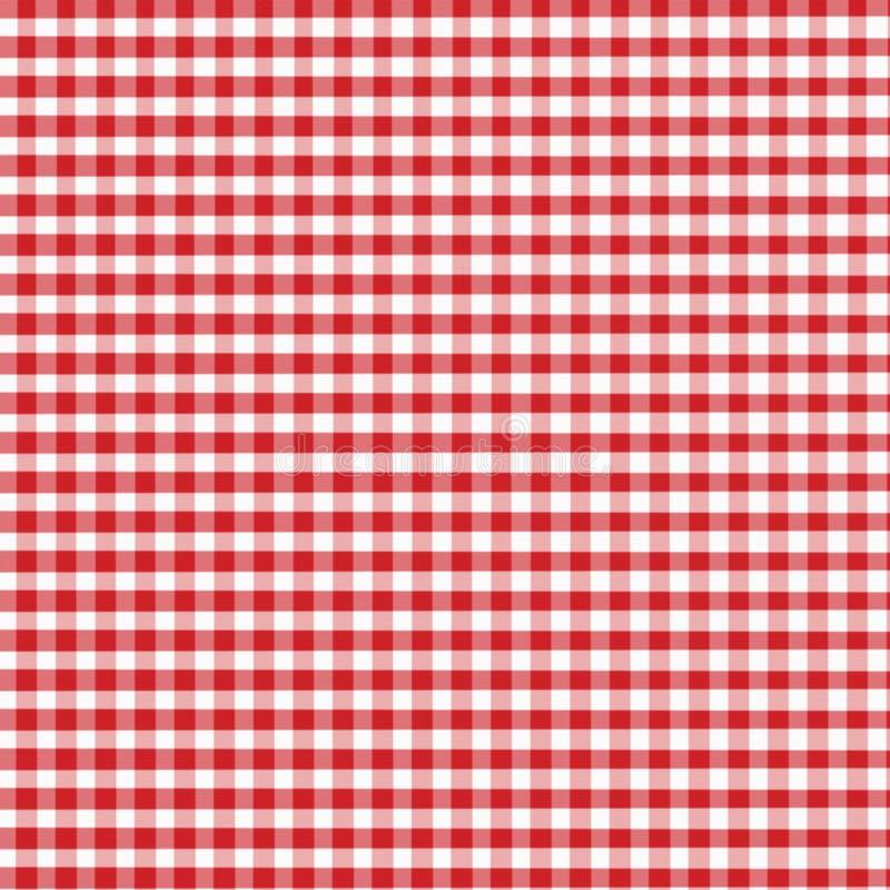 czerwony gingham ilustracja wektor