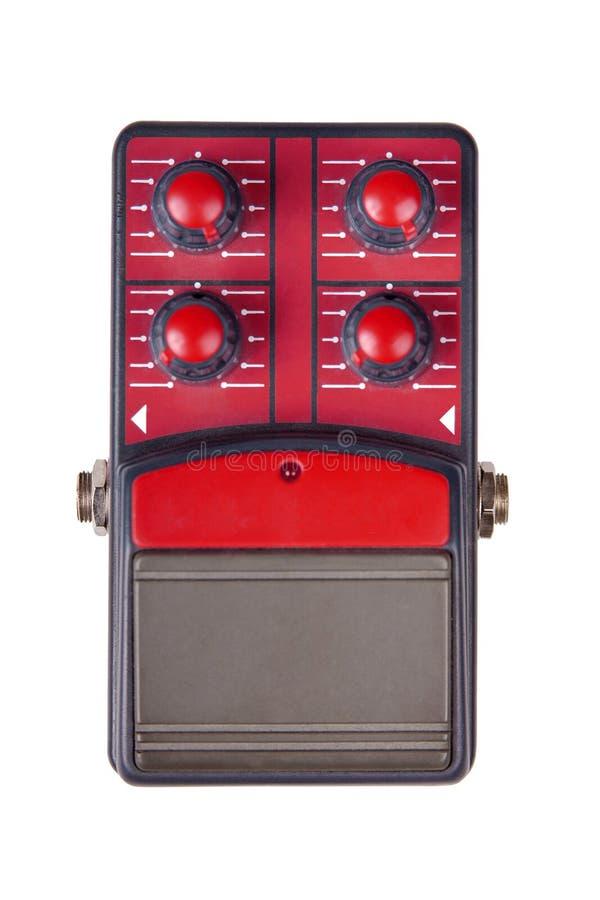 Czerwony gitara skutka następ odizolowywający na białym tle obrazy stock