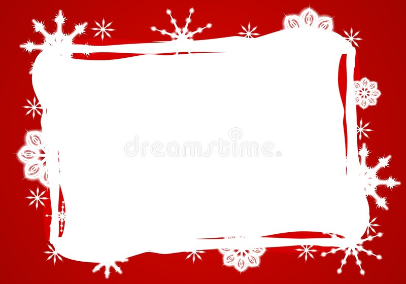 czerwony graniczny biel Śniegu
