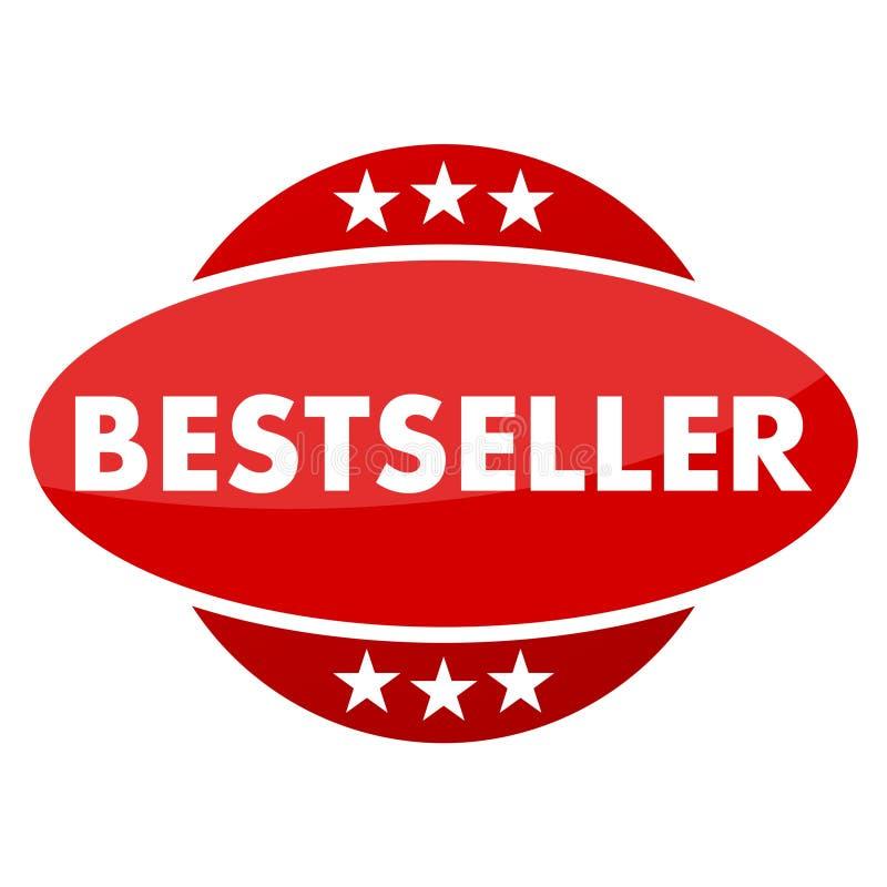 Czerwony guzik z gwiazda bestsellerem ilustracji