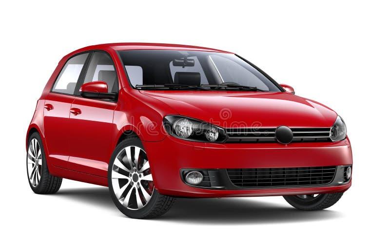 Czerwony hatchback samochód royalty ilustracja