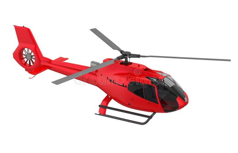 Czerwony helikopter Odizolowywający ilustracja wektor