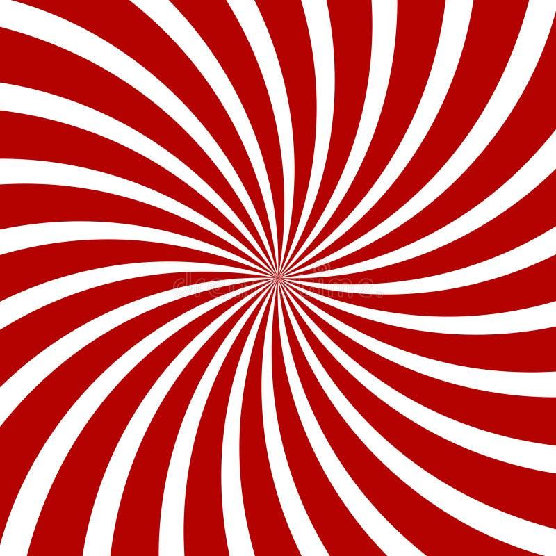 Czerwony hipnozy spirali wzór złudzenie optyczne ilustracja wektor