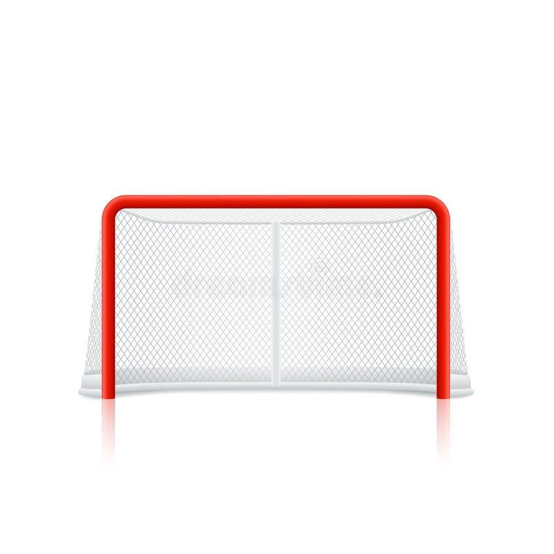 Czerwony hokejowy cel ilustracji