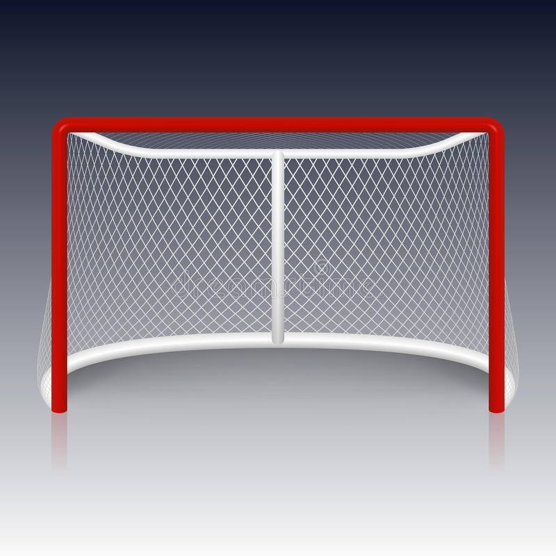 Czerwony hokejowy cel, sieć royalty ilustracja