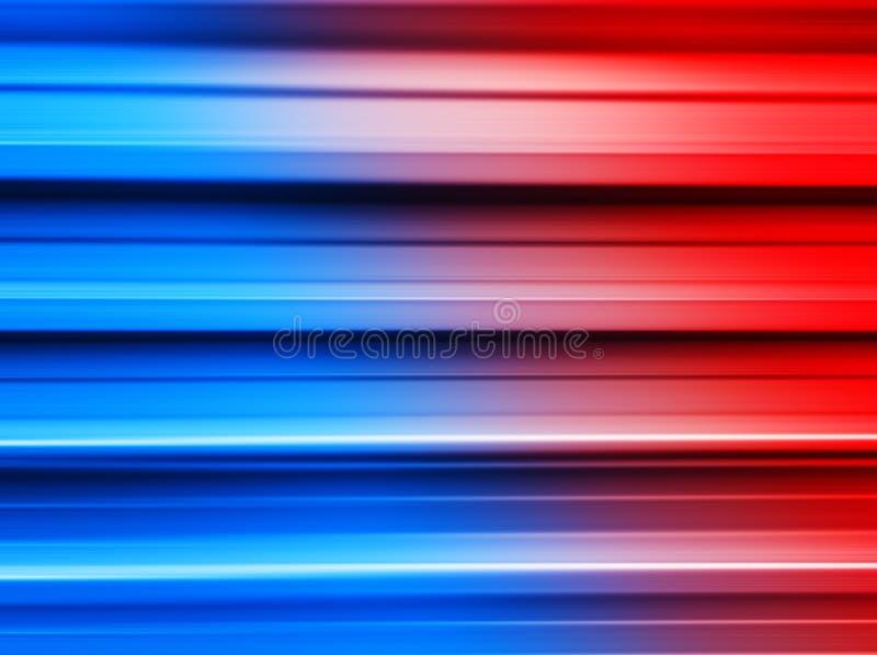 Czerwony i błękitny metali barów ruchu plamy tło ilustracji