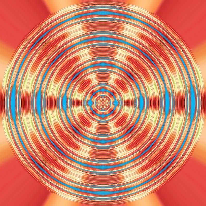 Czerwony i błękitny przędzalniany tło ilustracja wektor