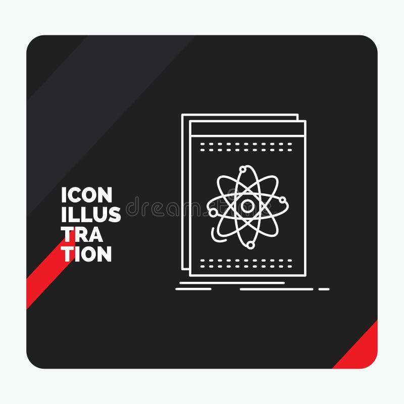 Czerwony i Czarny Kreatywnie prezentacji tło dla Api, zastosowanie, przedsiębiorca budowlany, platforma, nauki Kreskowa ikona ilustracja wektor