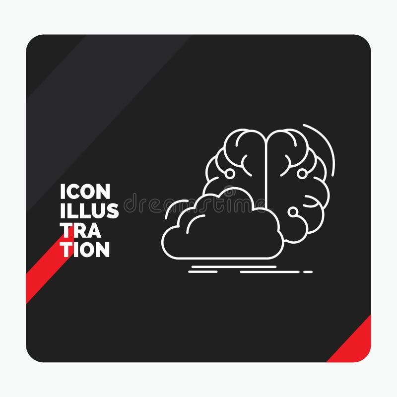 Czerwony i Czarny Kreatywnie prezentacji tło dla brainstorming, kreatywnie, pomysł, innowacja, inspiracji Kreskowa ikona ilustracja wektor
