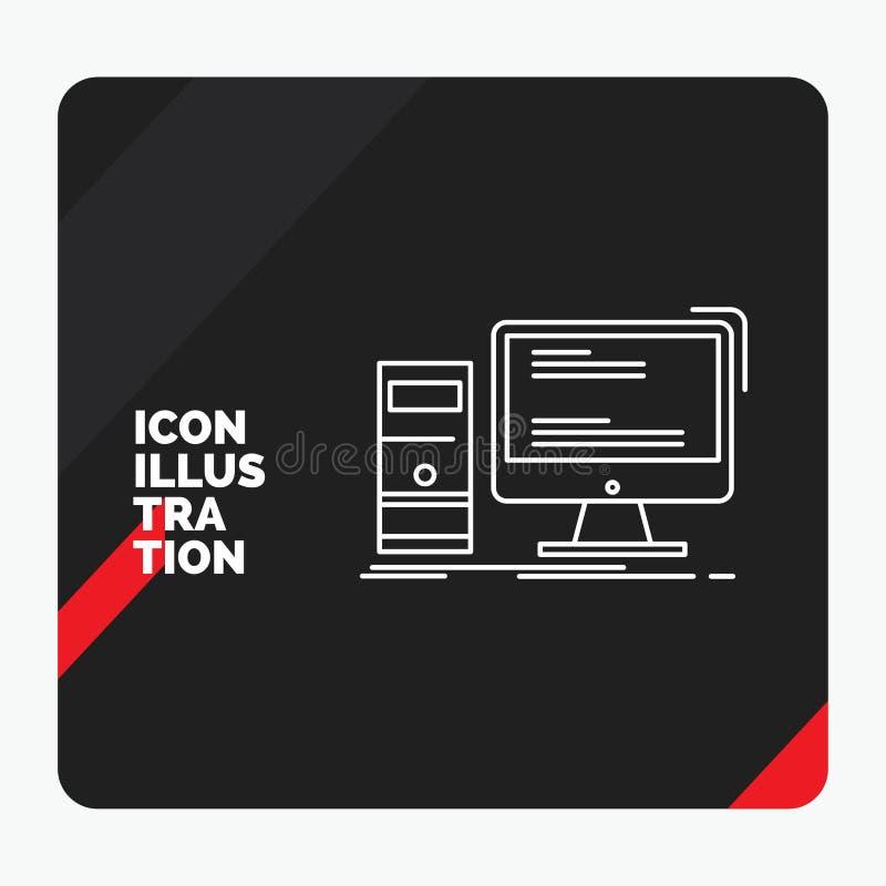 Czerwony i Czarny Kreatywnie prezentacji tło dla komputeru, desktop, hazard, komputer osobisty, ogłoszenie towarzyskie Kreskowa i ilustracja wektor