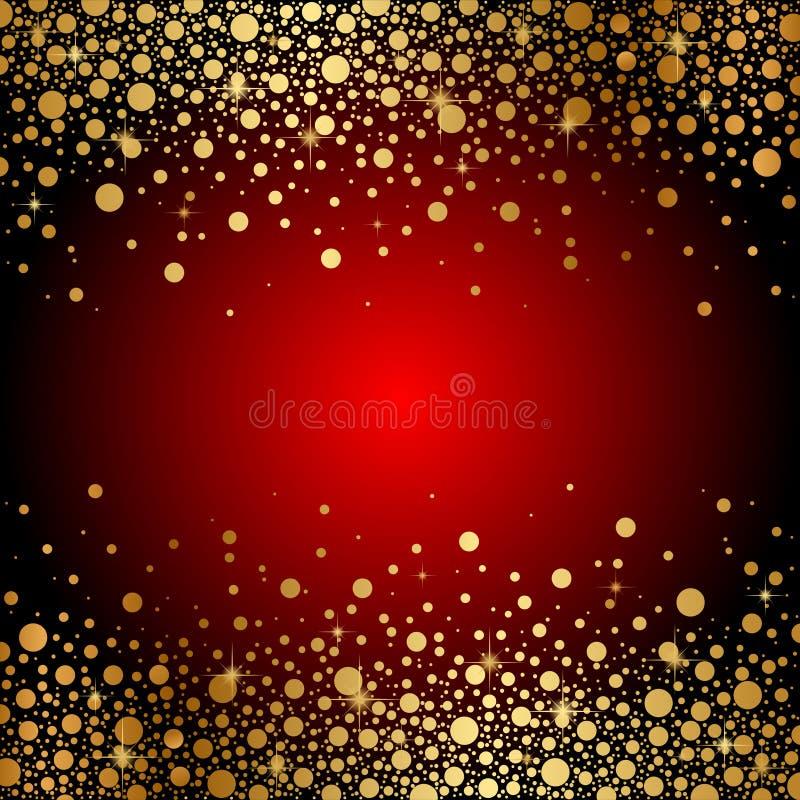 Download Czerwony I Złocisty Luksusowy Tło Ilustracja Wektor - Ilustracja złożonej z pusty, błyskotliwość: 28952362