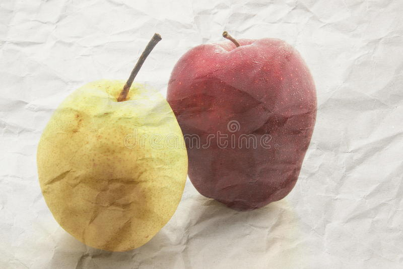 Czerwony jabłko i bonkreta obrazy stock