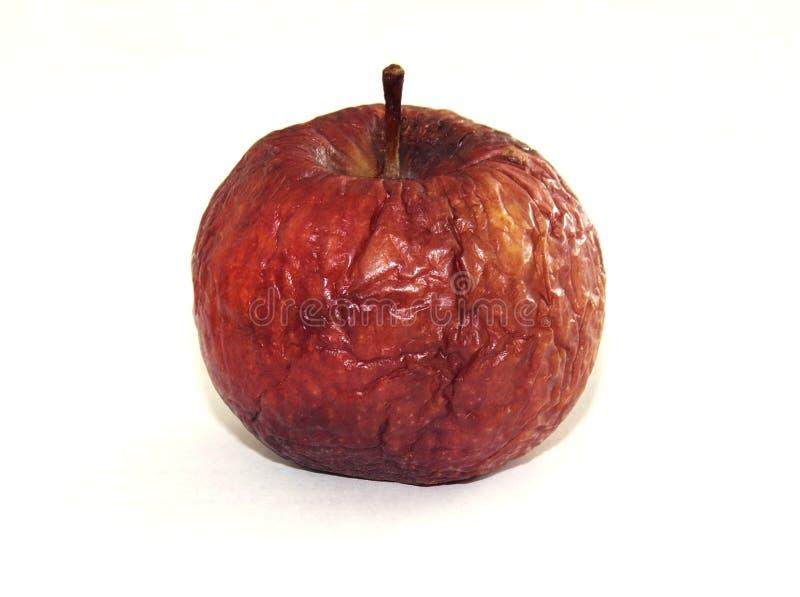 Czerwony jabłko na białym backgraund zdjęcie stock