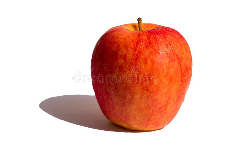 Czerwony jabłko odizolowywający na białym tle fotografia royalty free