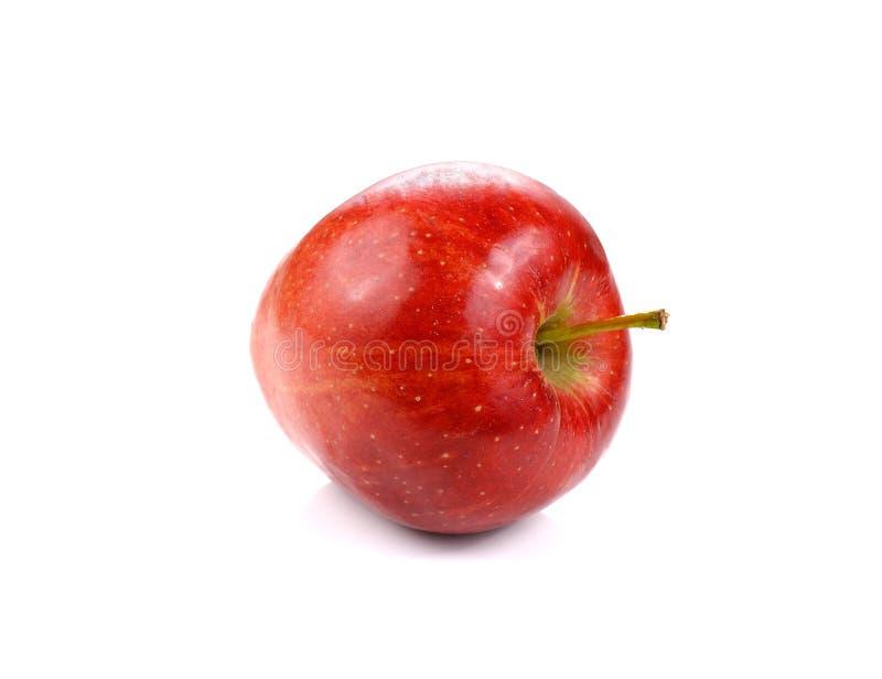 Czerwony jabłko odizolowywający na białym tle obrazy stock