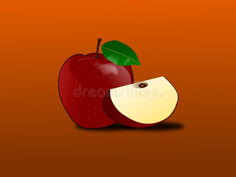 Czerwony jabłko przygotowywa jeść zdjęcia royalty free
