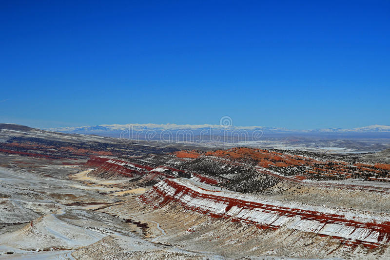 Czerwony jar przyrody siedliska zarządzania teren na zewnątrz Lander WY zdjęcie royalty free