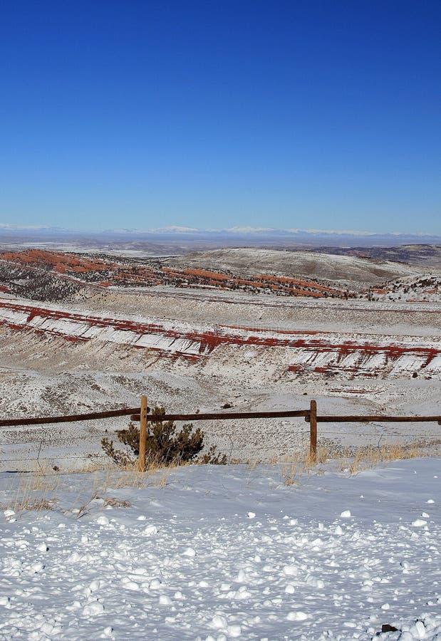 Czerwony jar przyrody siedliska zarządzania teren na zewnątrz Lander WY obraz royalty free