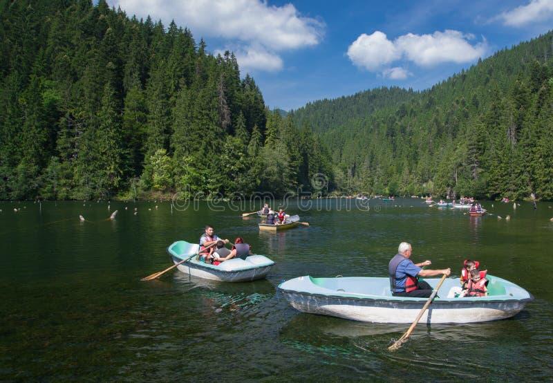 Czerwony jezioro - Lacul Rosu zdjęcie stock