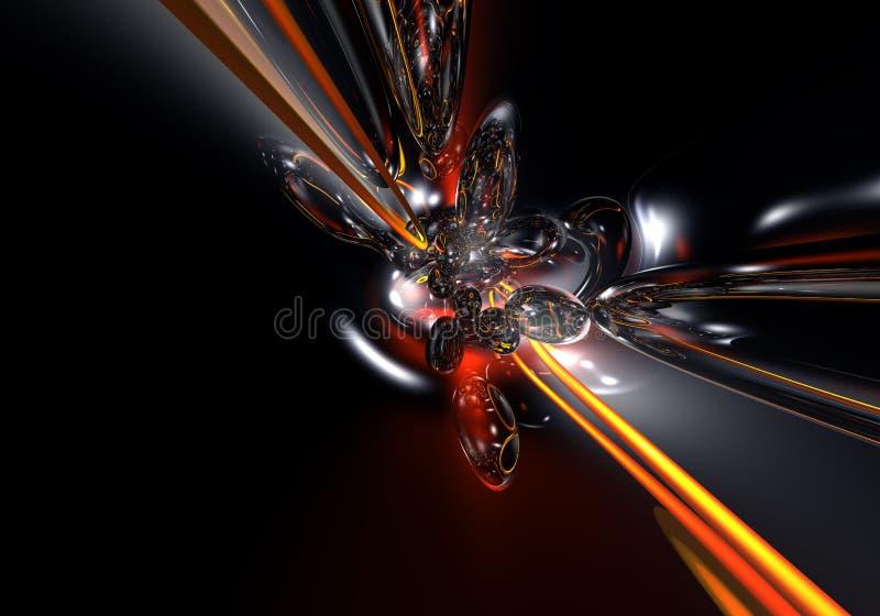 czerwony kabel 01 żółty royalty ilustracja