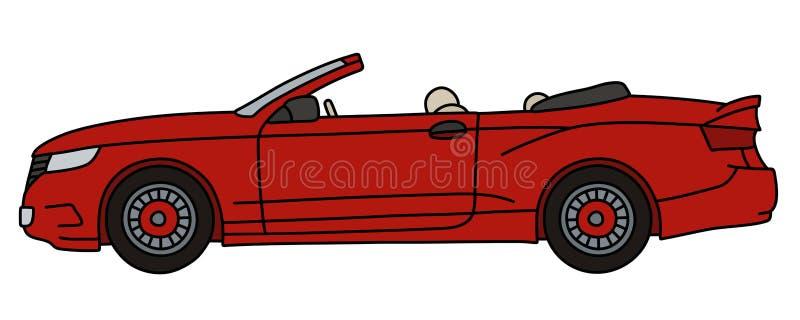 Czerwony kabriolet royalty ilustracja