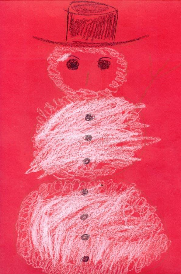 czerwony kartonowy bałwana ilustracji