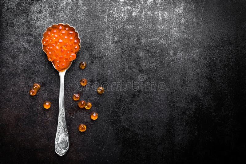Czerwony kawior zdjęcie royalty free