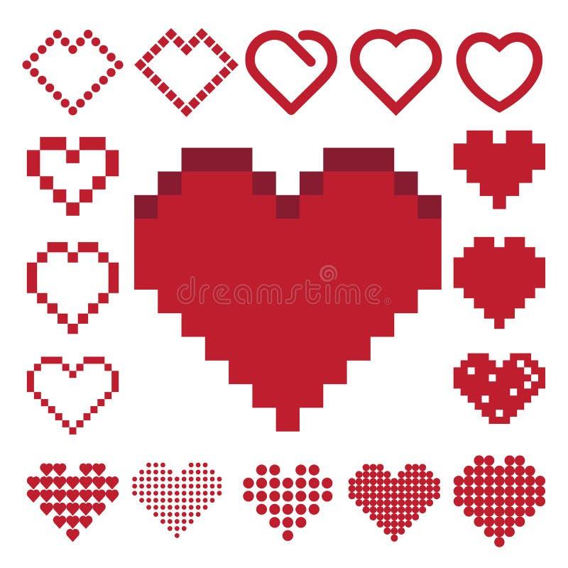 Czerwony kierowy ikona set. ilustracji