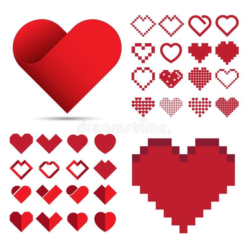 Czerwony kierowy ikona set royalty ilustracja