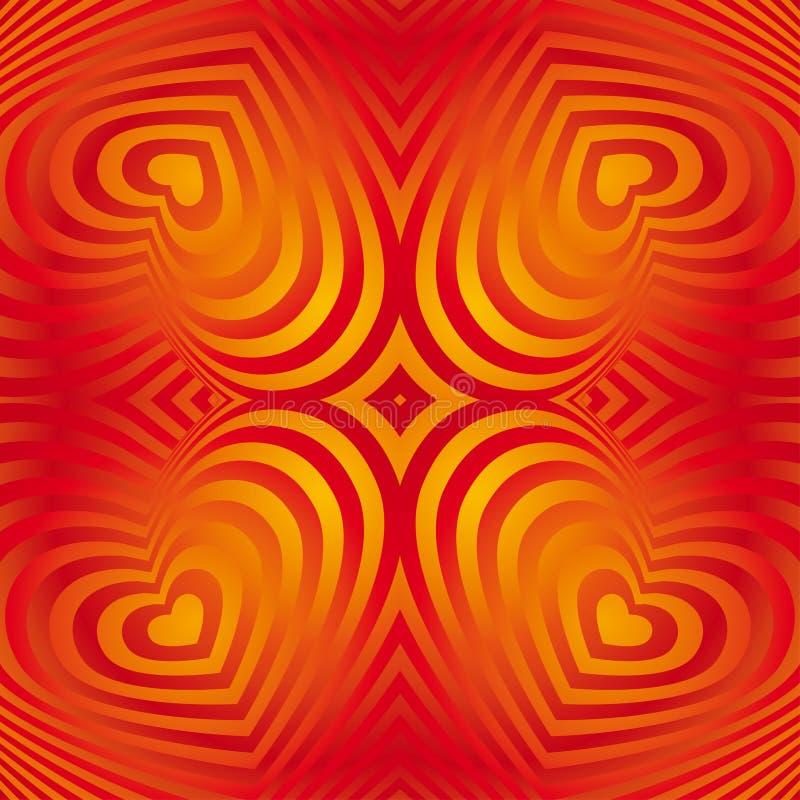Czerwony kierowy walentynka dnia bezszwowy tło Trójwymiarowy royalty ilustracja