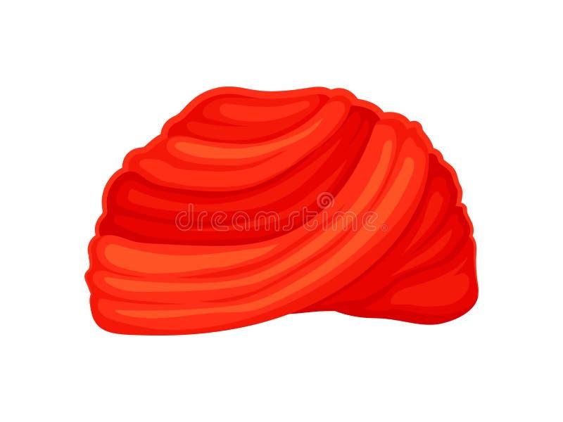 Czerwony klasyczny turban t?a ilustracyjny rekinu wektoru biel ilustracji