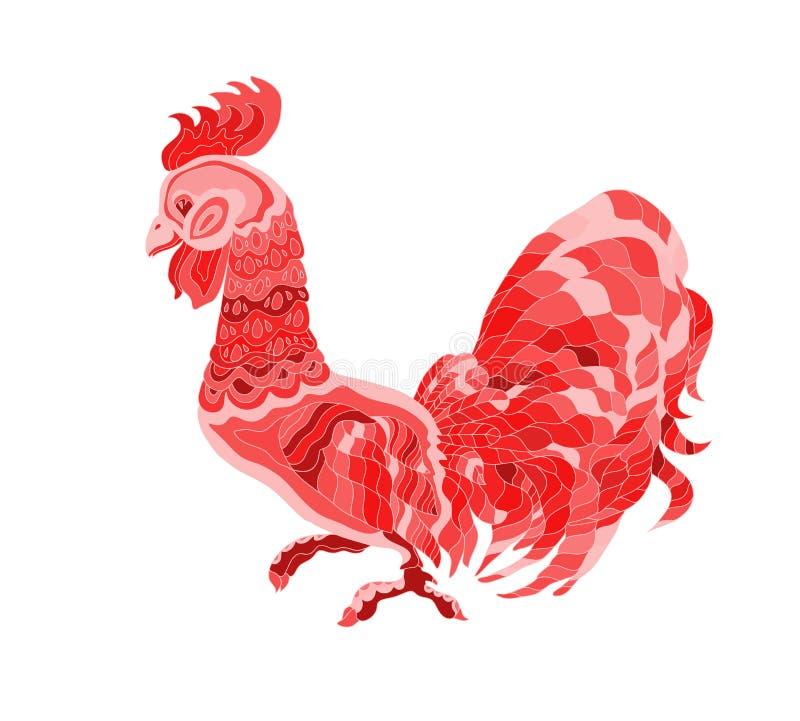czerwony kogut ilustracja wektor