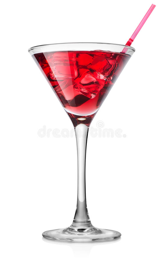 Czerwony koktajl w wysokim szkle obrazy royalty free