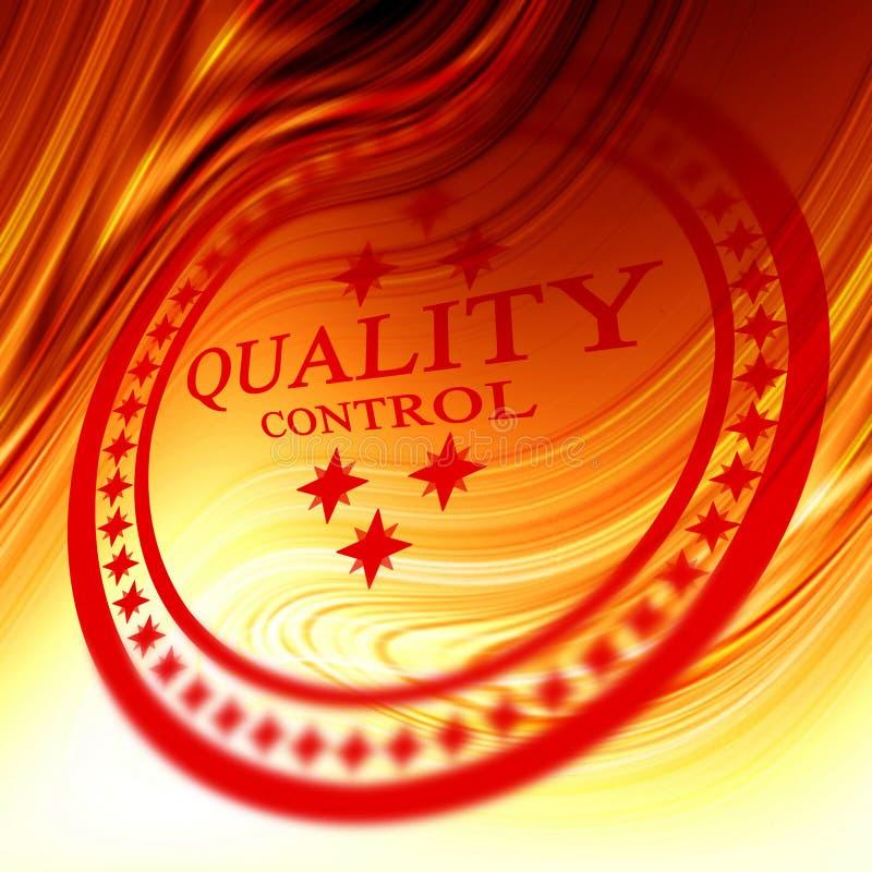 Czerwony kontrola jakości znaczek royalty ilustracja