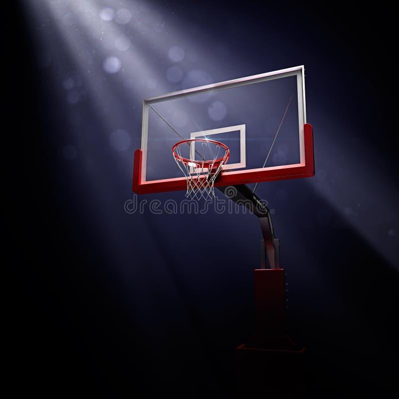 Czerwony koszykówki houp w błękicie ilustracji