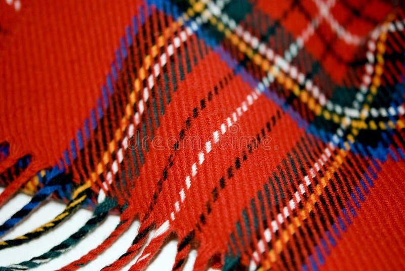 czerwony królewski szalik Stuart zdjęcia stock