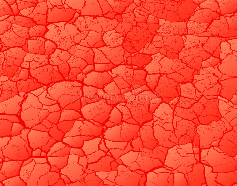 czerwony krakingowa ilustracji