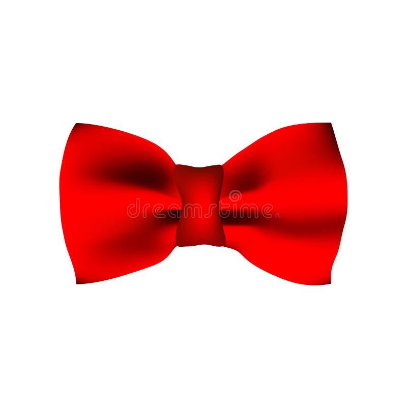 czerwony krawat bow fotografia stock