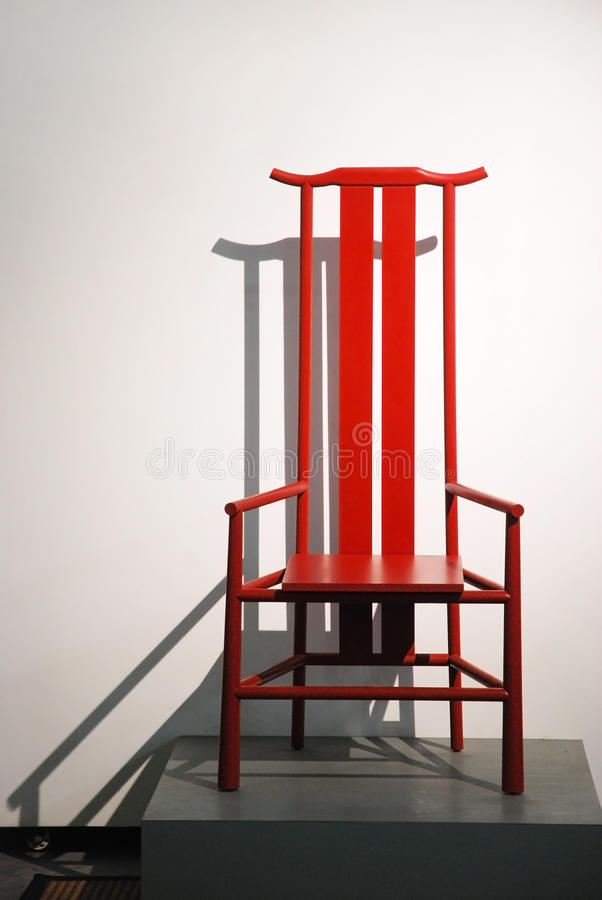 Czerwony krzesło fotografia stock
