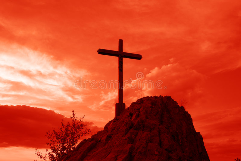 czerwony krzyżowa zdjęcie stock
