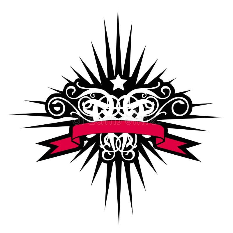 czerwony krzyżowa banner nieba royalty ilustracja