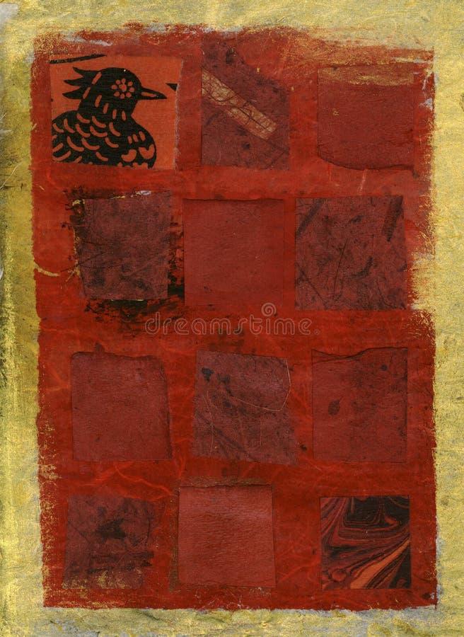 czerwony kurna royalty ilustracja