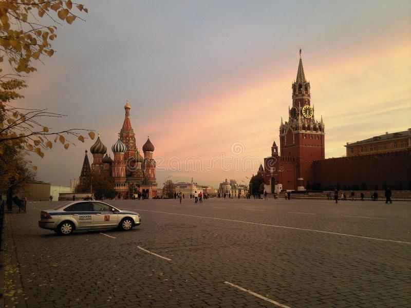 Czerwony kwadrata serce Moskwa fotografia royalty free