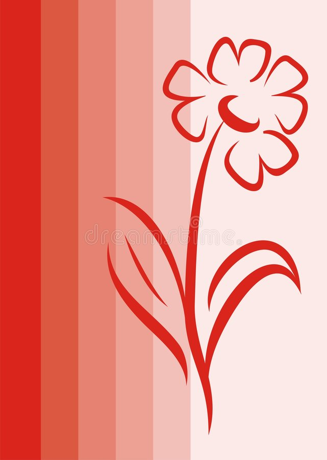 Download Czerwony kwiat ilustracja wektor. Obraz złożonej z valentine - 2796818